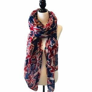 UNION JACK Printed Large Scarf